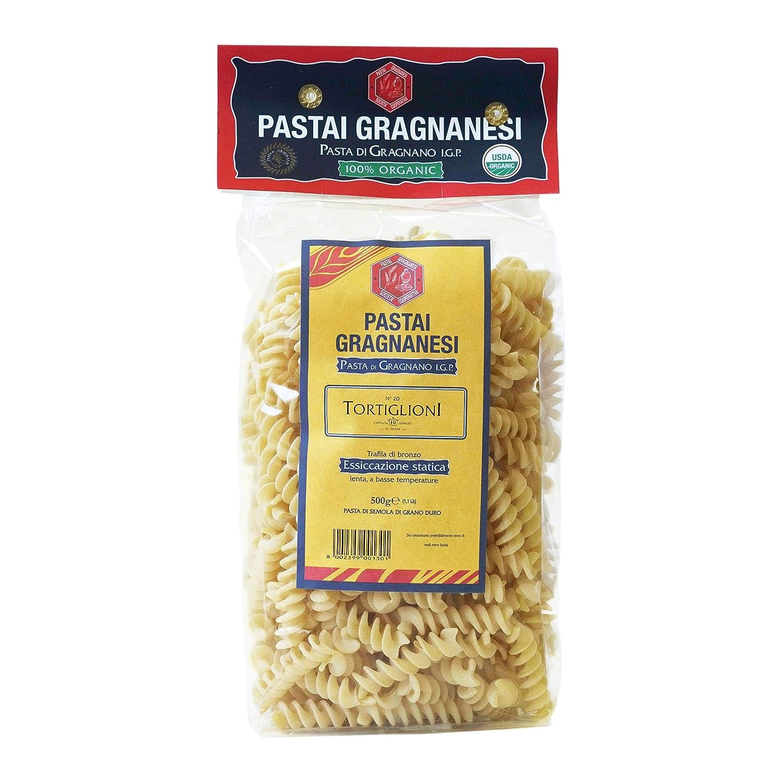 Tortiglioni Organic Italian Pasta Long NEW before selling Beach Mall Protected Gragnano I.G.P. di