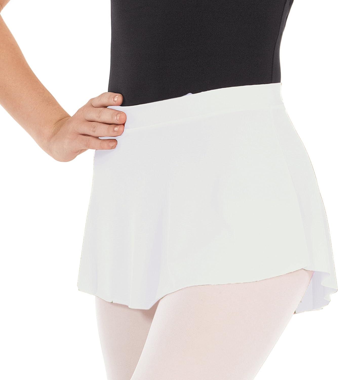Girls Women Pull On Ballet Skirt Elastic Short Mini Skirt for Dancing