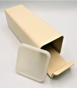 Vintage Tupperware Almond Velveeta Cheese Cracker Storage Keeper Container 1696