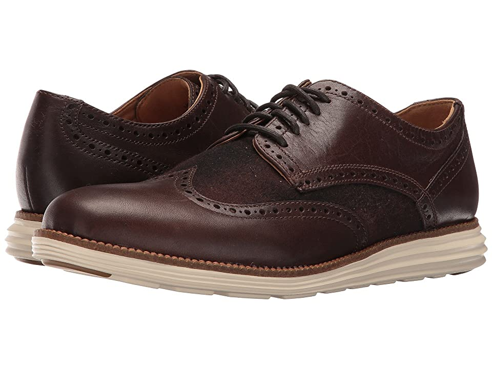 Cole Haan Original Grand Wing Oxford (Chestnut Leather/Brown Plaid/Ivory) Men