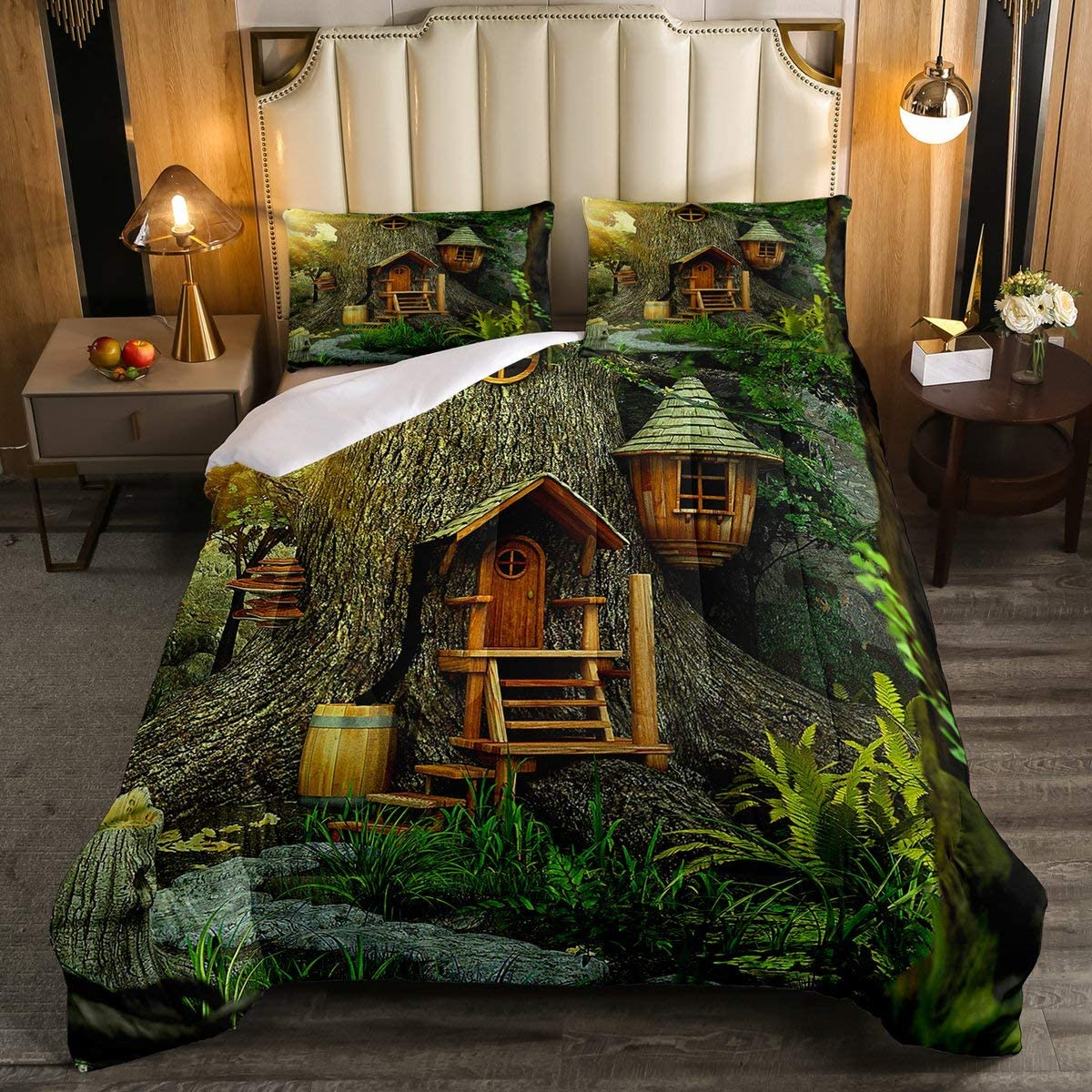Woodland Beddinig Set Tree House Spring new work one after another Max 67% OFF for Comforter Bo Decor Kids