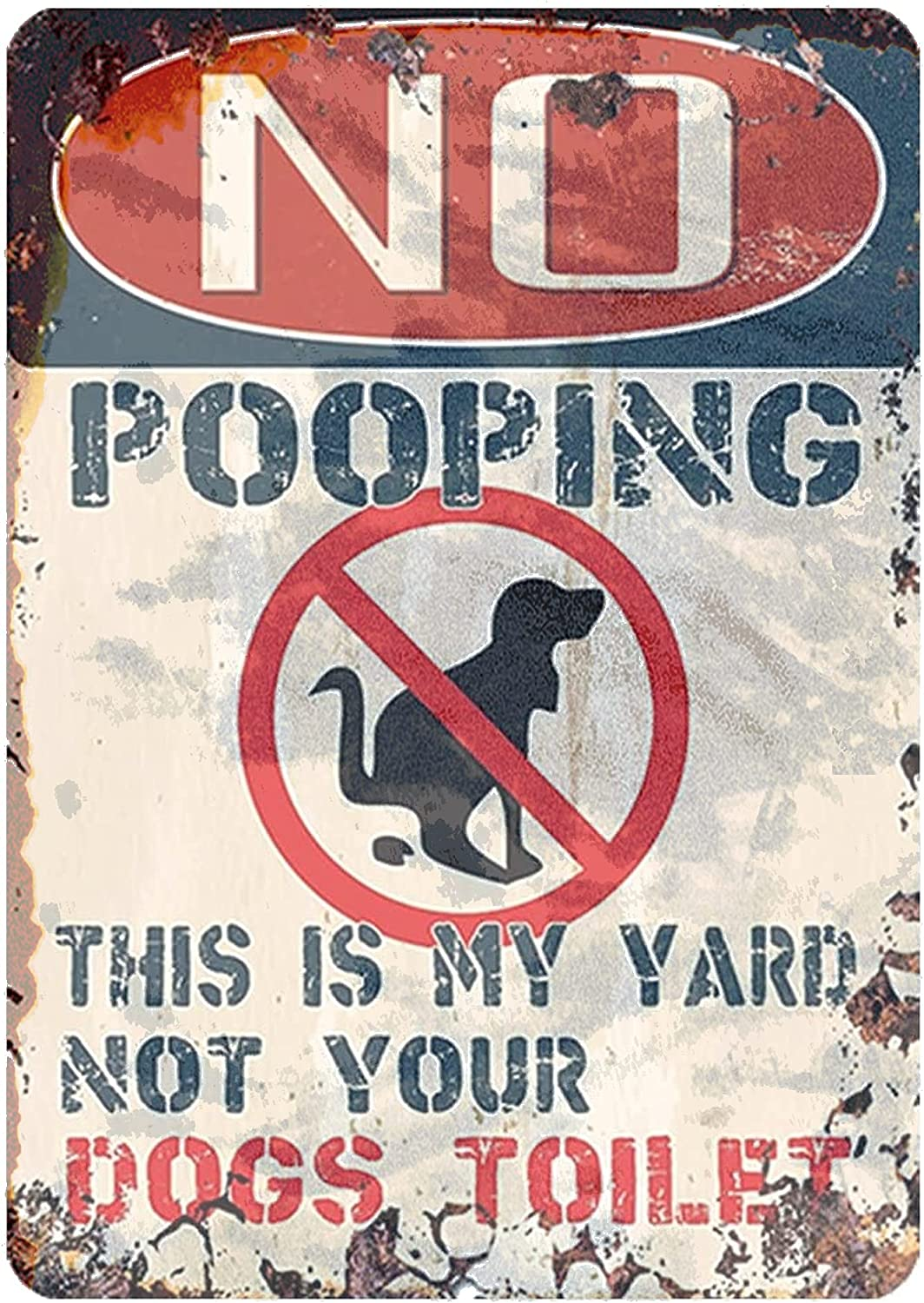 J.DXHYA Man Cave Free shipping National uniform free shipping Decor 2 Pieces No is Dog This Pooping Signs My