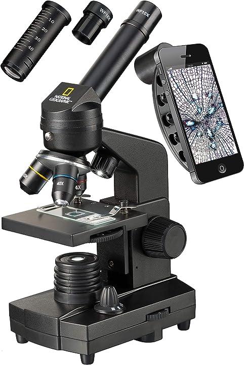 Microscopio 40x -1280x con supporto per smartphone national geographic 9039001
