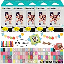 Polaroid Instant Film (100 Sheets) and Picture Frame Accessory Bundle - Designed for use with Fujifilm Instax Mini and PIC 300 Cameras