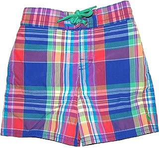 Polo Boys Plaid Swim Trunks Shorts