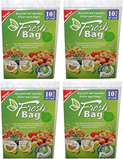 """Lot Of 40 Reusable Green Fresh Bags 15"""" x 9.8"""" - Storage Fruits, Vegetable, Flowers & More!"""