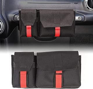 RT-TCZ Passenger Grab Handles Storage Organizer,2 in 1 Pocket Multi-Purpose Storage Bag for Phone,Sunglasses,Tools.Waterproof Interior Accessories for TJ JK JL