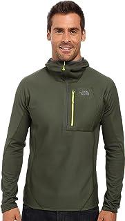 سترة رجالية من The North Face بغطاء رأس Fuseform Dolomiti 1/4 بسحاب 1/4 باللون الأخضر/الأخضر التنوب الأخضر الصمغ، مقاس كبير