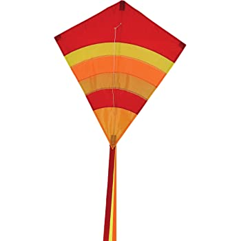 In the Breeze Hot Arch 27 Inch Diamond Kite - Single Line - Ripstop Fabric - Includes Kite Line and Bag - Great Beginner Kite