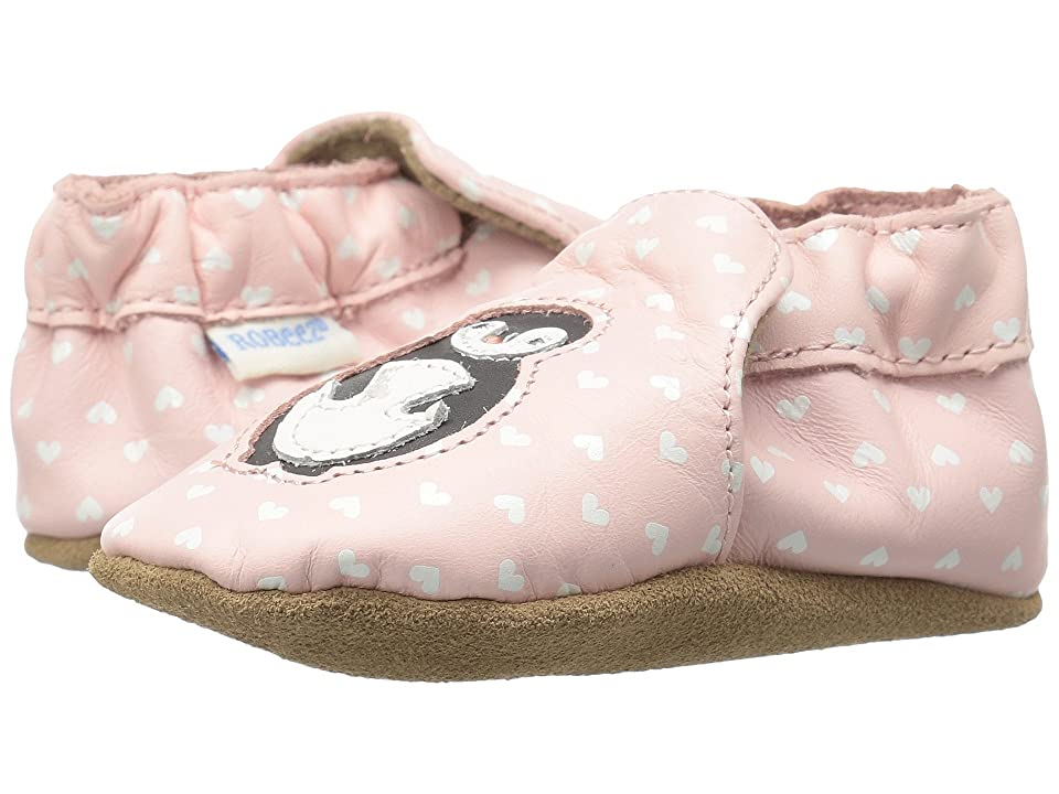 Robeez Piper Penguin Soft Sole (Infant/Toddler) (Light Pink) Girls Shoes