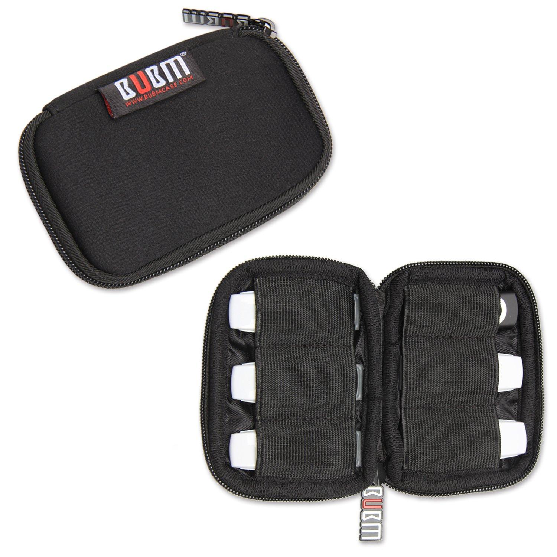 BUBM Estuche Mini para Ordenar USB Funda Suave para Proteger USB Perfectamente, Tamaño adecuerdo para llevar 6 Gomas Elásticas para Ajuestar USB, Negro: Amazon.es: Electrónica