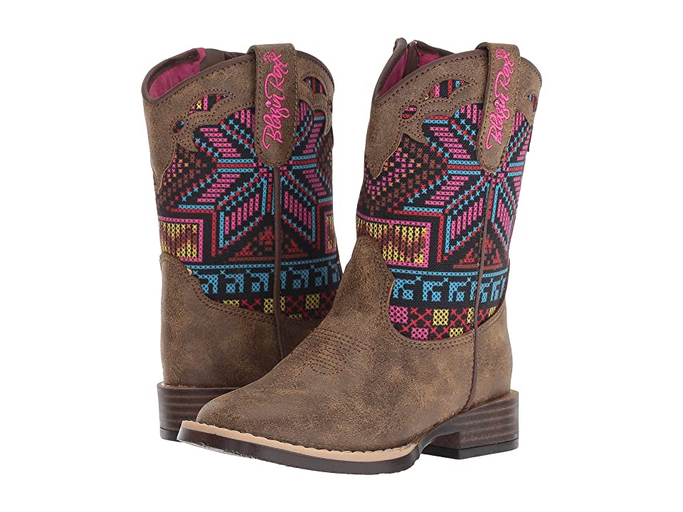 M&F Western Kids Hailey (Toddler) (Brown/Multi) Cowboy Boots
