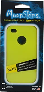Moonskins MSK-IY01-01 Glow in the Dark Case for iPhone 4/4S - 1 Pack - Carrying Case - Retail Packaging - Yellow