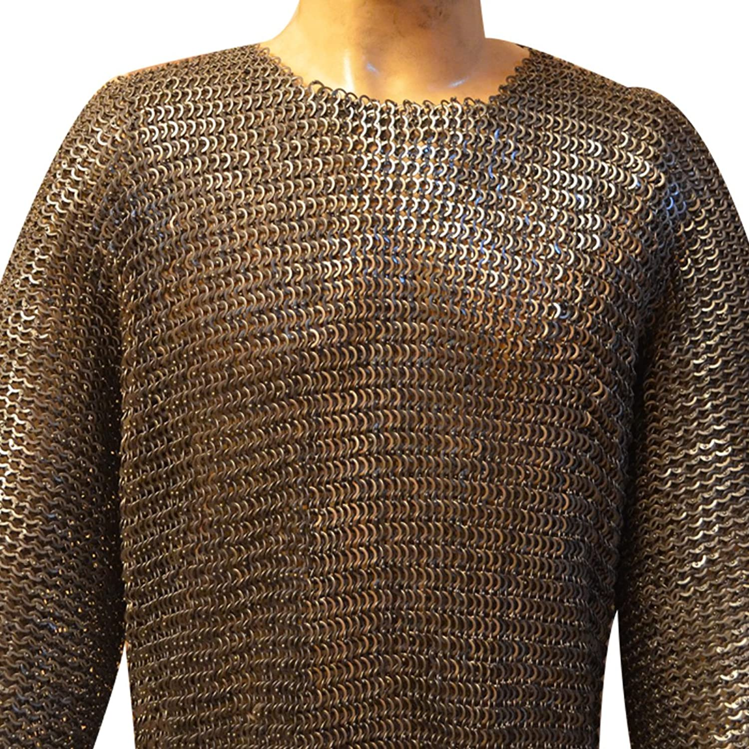 Chain Maille Hauberk 8 Mm Flat Solid Riveted Chest 40Medium Oiled