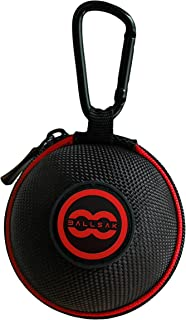 Ballsak Sport - Red/Black - Clip-on Cue Ball Case, Cue Ball Bag for Attaching Cue Balls, Pool Balls, Billiard Balls, Training Balls to Your Cue Stick Bag EXTRA STRONG STRAP DESIGN!