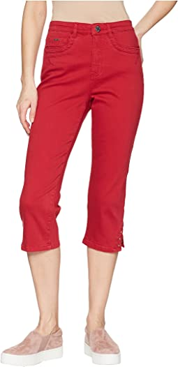 Sunset Hues Suzanne Capris in Red