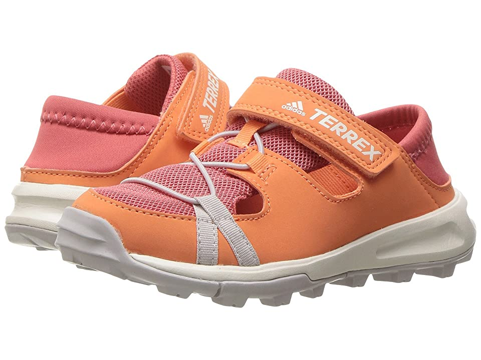 adidas Outdoor Kids Terrex Tivid Shandal CF (Little Kid/Big Kid) (Easy Orange/Tactile Pink/Ice Purple) Girls Shoes