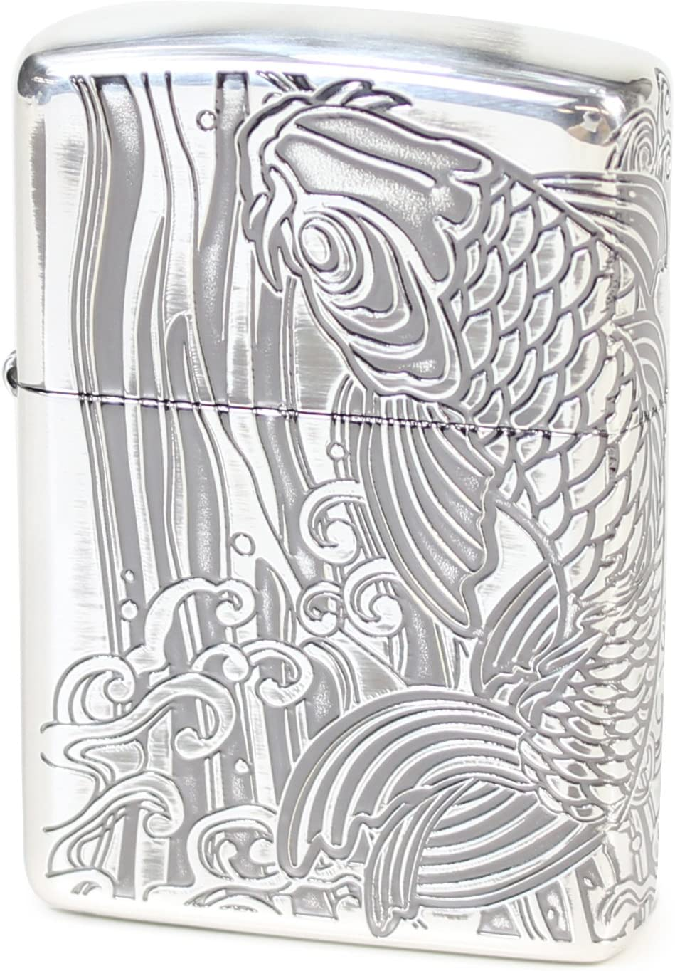 Zippo Antique Series Now on sale New product! New type Rising carp Silver B