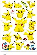 XIAMU Pokemon Pikachu Dessin animé Cahier Autocollants Valise Autocollants Coque étanche Guitares Bagages lumière 18 Zhang