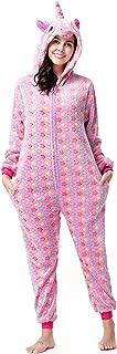 Adults Unisex Animal Flannel Unicorn Onesie Pajamas Cosplay Costume