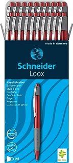 Schneider Lot de 20 stylos à bille Loox avec zone de préhension Soft-Grip mine M (Rouge) (Import Allemagne)