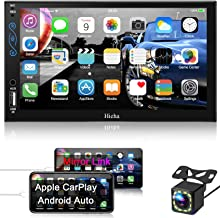 Hieha Car Stereo Compatible with Apple Carplay and Android Auto, 7 Inch Double Din Car Stereo with Bluetooth, Touch Screen...