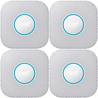 Nest Protect 2nd Generation Smoke/Carbon Monoxide Alarm-Battery(S3000BWES) 4-Pack