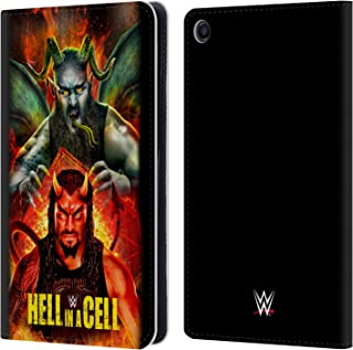 Official WWE Roman & Braun 2018 Hell in A Cell Leather Book Wallet Case Cover Compatible for Xiaomi Mi Pad 4