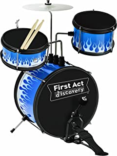First Act FD5044 5-Piece Blue Flame Drum Set
