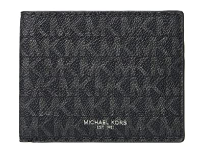 Michael Kors Greyson Logo Slim Billfold Wallet (MK Signature Black) Wallet