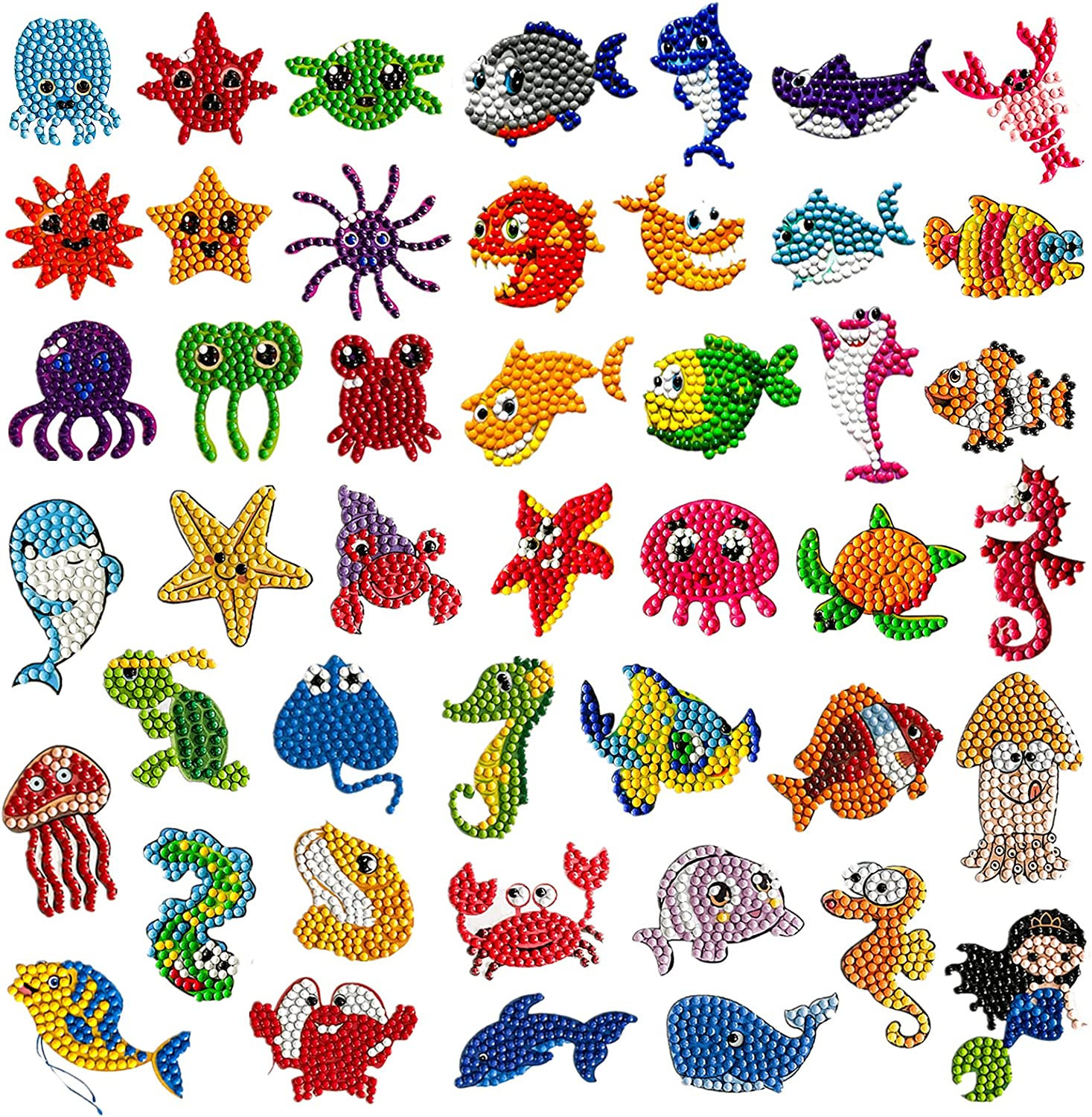 45Pcs 5D Diamond Free Austin Mall shipping on posting reviews Painting Stickers FODIENS Kids Kits for Creati