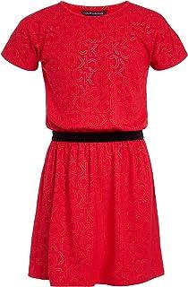 فستان عصري للفتيات الكبيرات بأكمام قصيرة من كالفن كلاين