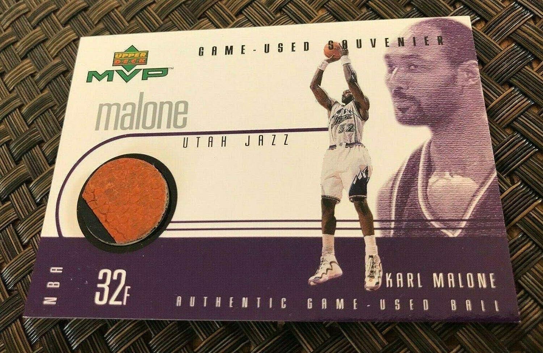 1999 Upper Deck Mvp Souvenirs Charlotte Mall Karl Malone B Game Basketball Used Super intense SALE
