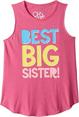 Best Big Sister Muscle Tank (Little Kids/Big Kids)