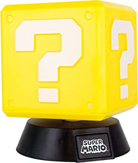 Paladone Lampara Cubo Question Block 3D Light Mario Bros Nin