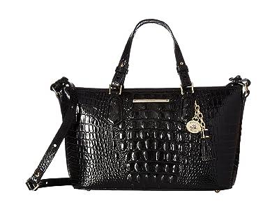 Brahmin Melbourne Mini Asher Bag (Black) Handbags