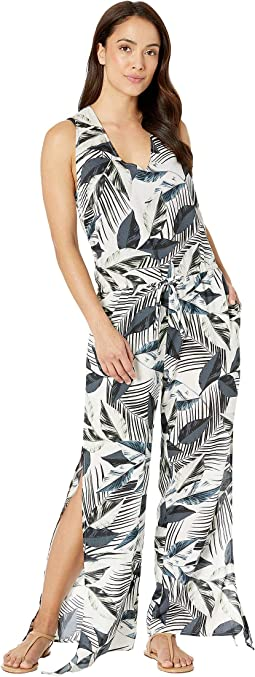 Moment Of Zen Wrap Jumpsuit Cover-Up