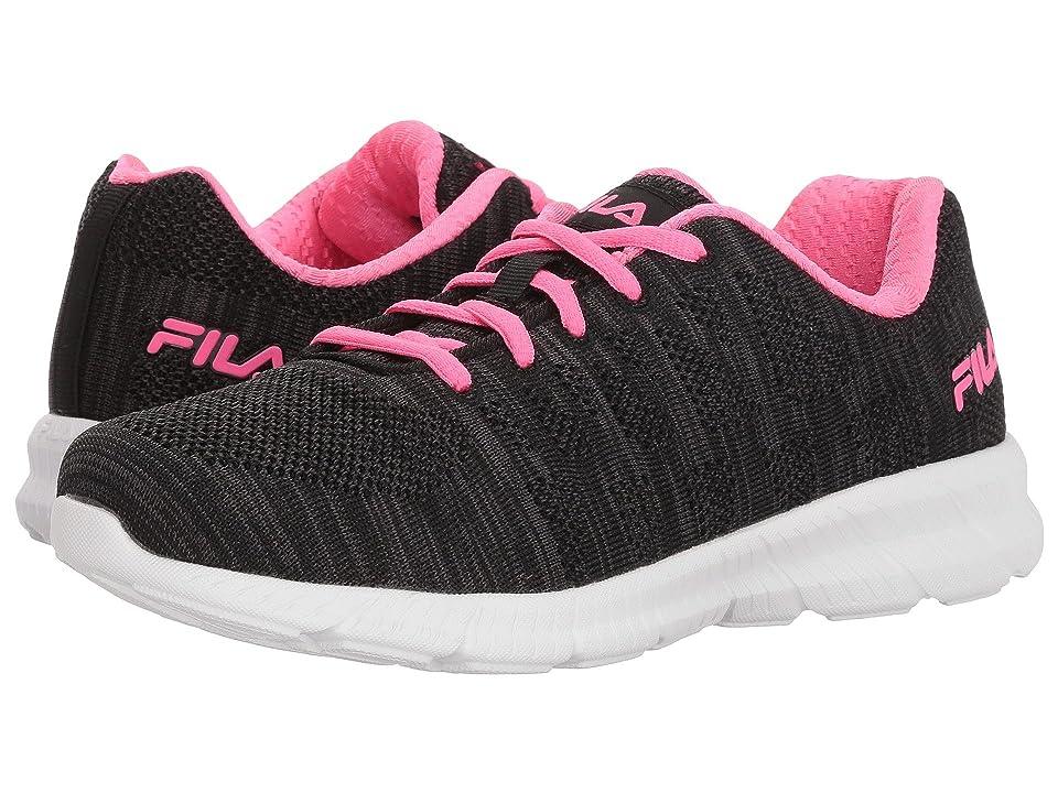 Fila Memory Techknit Running (Black/Knockout Pink/White) Women