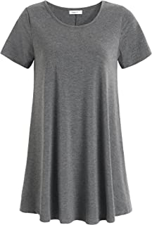 Best plus size short sleeve tunic tops Reviews