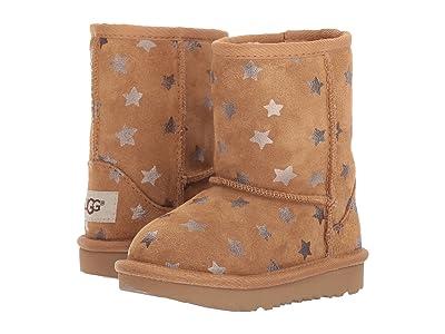 UGG Kids Classic Short II Stars (Toddler/Little Kid) (Chestnut) Girls Shoes