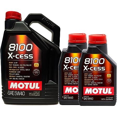 Motul 8100 X Cess 5w40 Engine Oil 7 Litres 1 X 5 L 2 X 1 L Auto