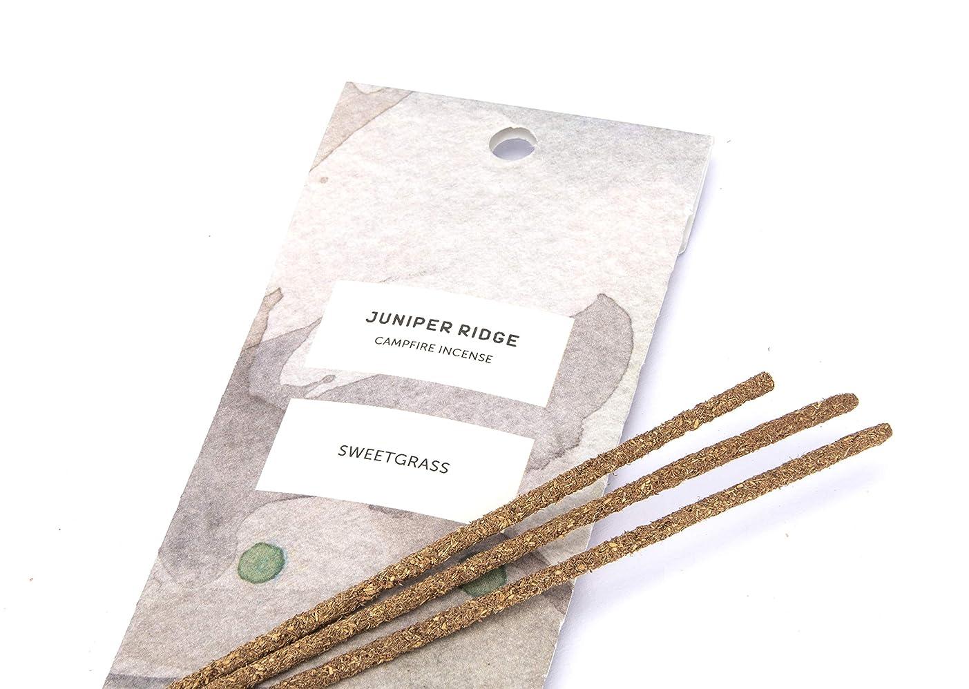 量でレンジ準備するJuniper Ridge Sweetgrass Incense