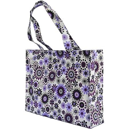 Borsa per la spesa borsa tote impermeabile in tela cerata libreria con soffietto borsa per la musica borsa rivestita in PVC