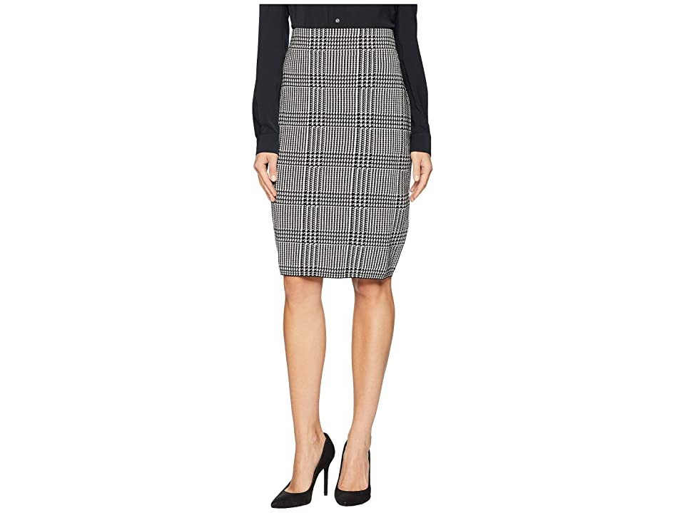 CHAPS Cotton Blend Stripe Skirt (Polo Black Multi) Women