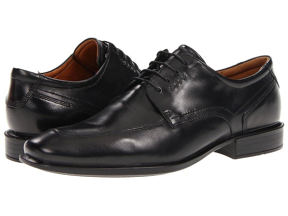 ECCO Cairo Apron Toe Tie (Black Oxford Leather) Men