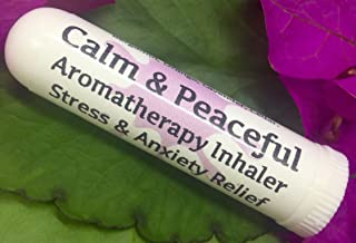 Urban ReLeaf Calm & Peaceful Aromatherapy Inhaler! Stress & Anxiety Relief, Relax, Sleep, Unwind. Botantical Blend, 100% Natural Drug-Free Alternative Nasal Stick. Helps PMS, Moody, Tired, Irritated