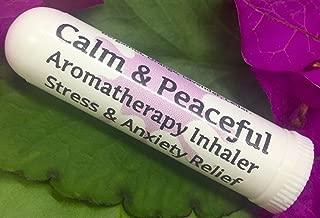 Urban ReLeaf Calm & Peaceful Aromatherapy Inhaler! Stress & Anxiety Relief, Relax, Sleep, Unwind. Botantical Blend, 100% Natural Drug-Free Alternative Nasal Stick. Helps PMS, Moody, Tired, Irritated