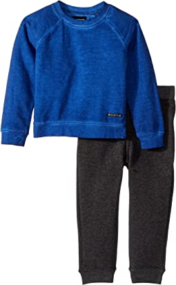Hudson Kids - Two-Piece Sweatshirt w/ Jogger Pants Set (Toddler)