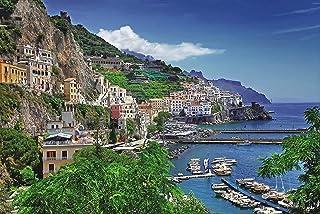 1000 Piece Aegean Sea Italy Positano Famous European Town Coast Harbour Landscape Home Decoration Adults Games Wooden Jigs...
