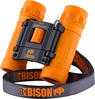 BeBison Binoculars for Kids and Adults - 8x21 High Resolution Real Optics - Premium Compact Folding Shockproof Kids Binocu...